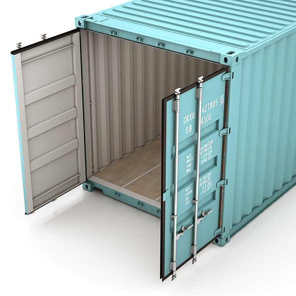 3d model iso container 12m 40ft - ISO Container 12m/40ft... by Blockdown