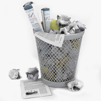 3d waste paper basket