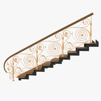Wrought Iron Stair Railing 5