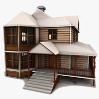 3d victorian house model