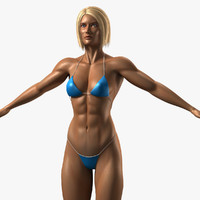 female bodybuilder 3d lwo