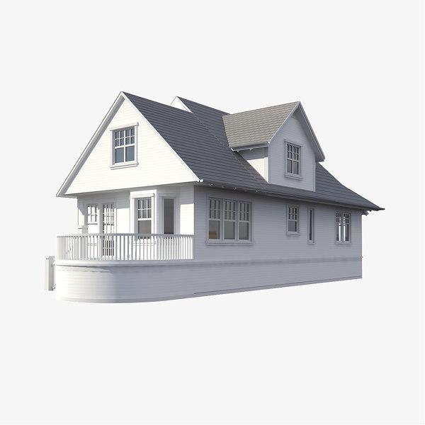 3d Model House Building Residential: 3d Family House Model