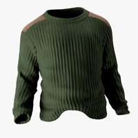 Navy Wool Commando Sweater