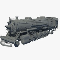 train locomotive 3d dxf