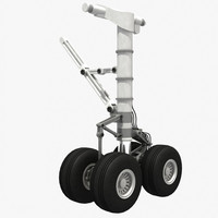 3d rigged landing gear heavy model