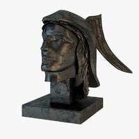 hermes bust statue 3d model