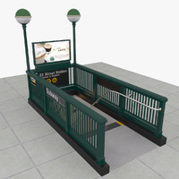 subway entrance 3d max