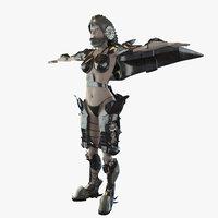 girl gear 3d model