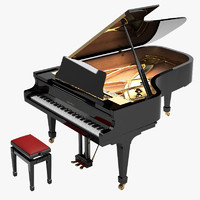 kawai grand piano 3d model