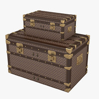 maya louis vuitton trunk set