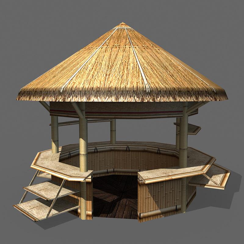 Beach hut 3d max for Model beach huts