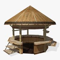 beach hut 3d max