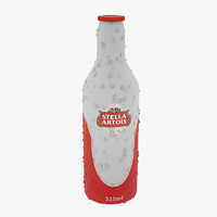 stella artois beer bottle 3d model