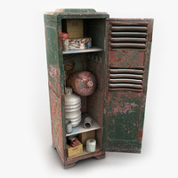 3d metal locker heavy model