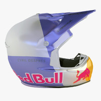 3d model of shark helmet red-bull