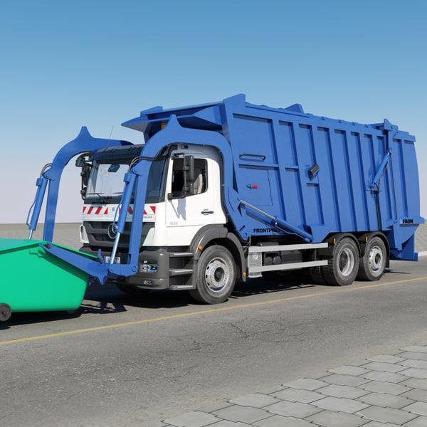 Mercedes benz garbage truck 3d ma for Mercedes benz in massachusetts