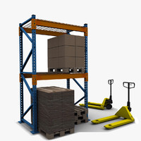 3d model warehouse forklift
