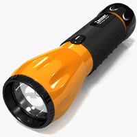 modern flashlight 3d model