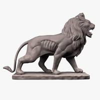 Stone Lion Sculpture 3