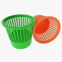 3d model dustbin office color