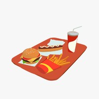 3ds max tray fast food