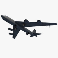 B-52 Stratofortress Bomber 3D Model