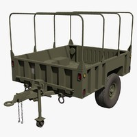 US Military M1101 LTT-L Cargo Trailer