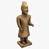 3d china terracotta warrior 2