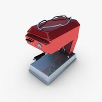 espresso machine 3d obj
