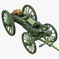 Napoleons 6-inch Gribeauval howitzer Transport Position 2