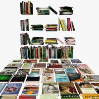 3ds max books shelves
