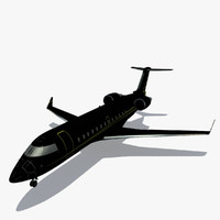 challenger 850 private business jet 3d 3ds