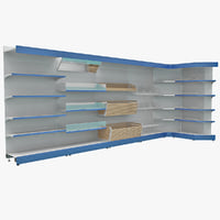 supermarket shelf 3 3d model