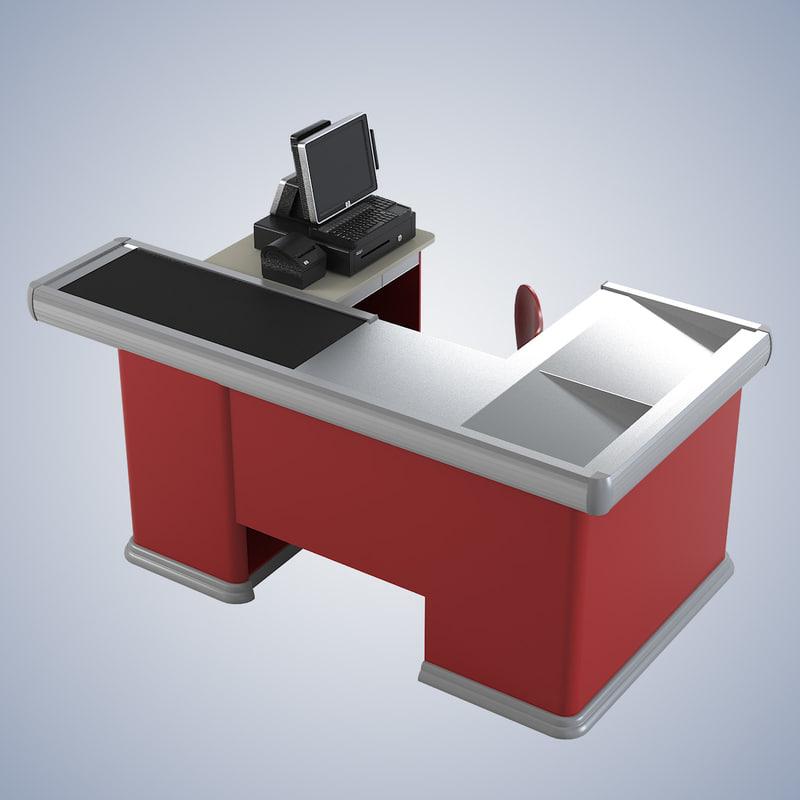 b cash table supermarket accessory cashier counter cash pos0001.jpg