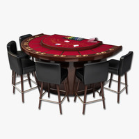 Blackjack Table With Stools
