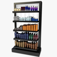 3ds cosmetic display rack