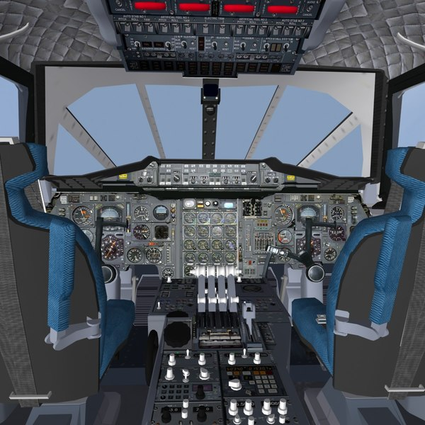 3d model interior concorde - Concorde Interior... by mach 3 graphics