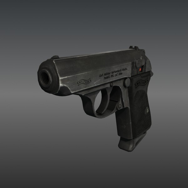 3d model ready ppk - Walther PPK... by Luchador