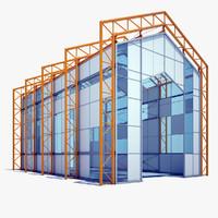 hangar building 3d model