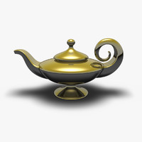 3d model aladdin s magic lamp