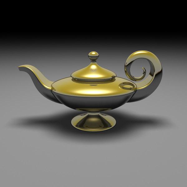 3d Model Aladdin S Magic Lamp