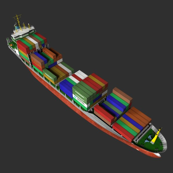 3d container ship - Container Ship... by vadikgg