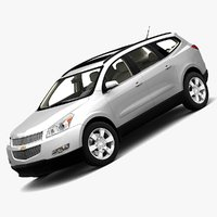 chevrolet traverse 2009 3d model