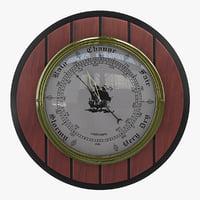 3d barometer instrument model