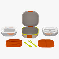 3d camping food containers utensils