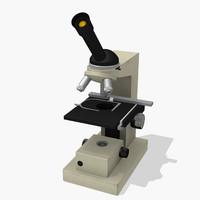 3d model laboratory microscope micro