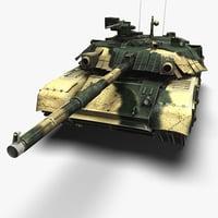 t-84 oplot tank 3d model
