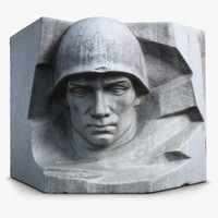 3ds russian soldier sculpture