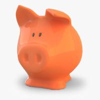 3d piggy bank model
