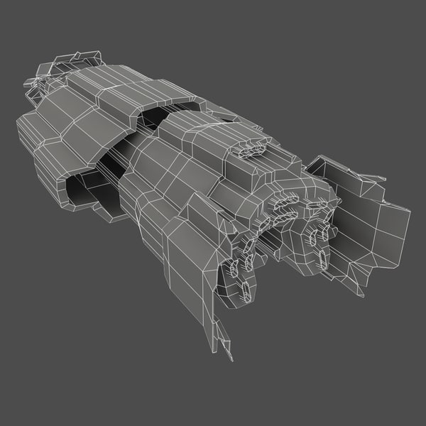 spacecraft craft space 3d model - Spacecraft Two... by PolyTron